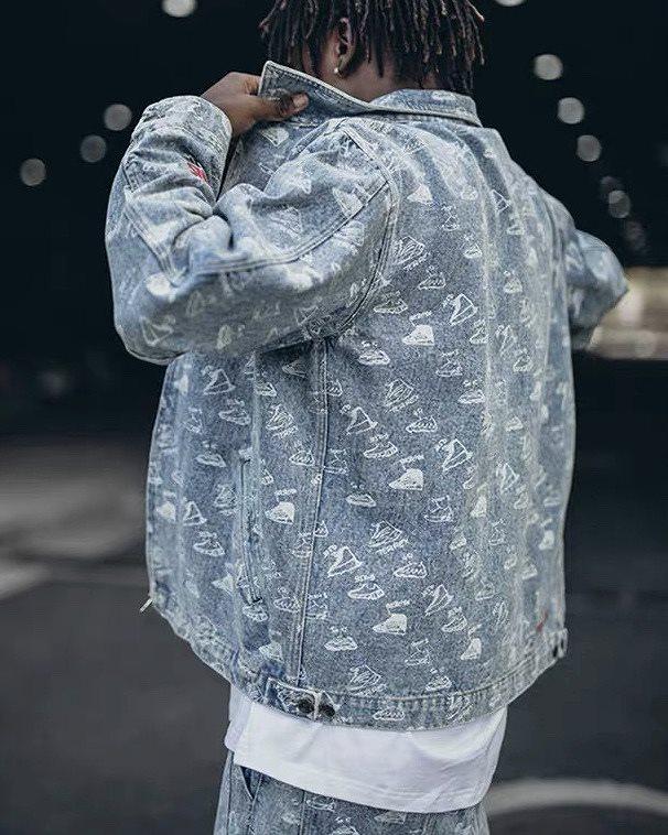 《2色》スニーカーズブリーチデニムジャケットの画像1